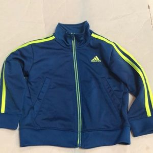 Adidas adorable neon/ blue sweatshirt